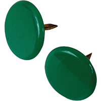 Hillman 122675 Thumb Tack, 23/64 in Diameter, 3/8 in L, 15/64 in L Shank, Steel, Green