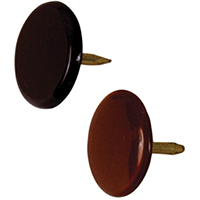 Hillman 122679 Thumb Tack, 23/64 in Diameter, 3/8 in L, 15/64 in L Shank, Metal, Brown