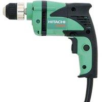 Hitachi D10VH Lightweight Corded Drill, 120 V, 6 A, 3/8 in Keyless Chuck, 0 - 2500 rpm