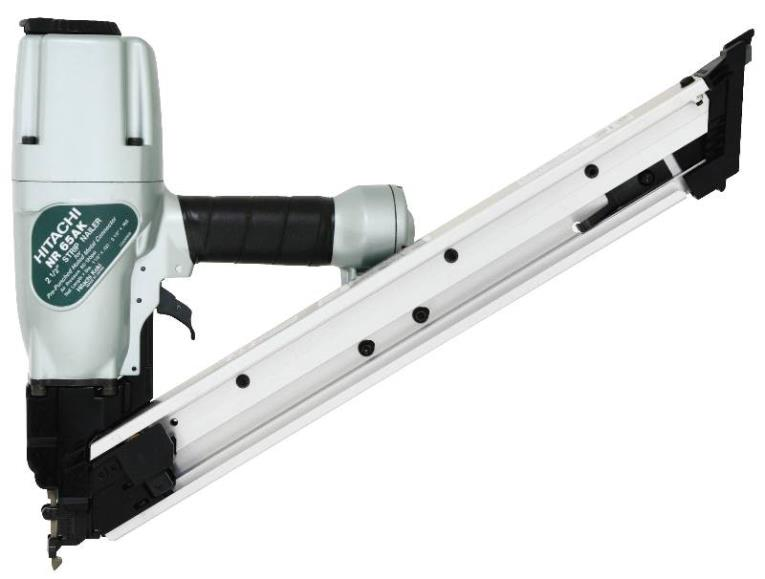 Hitachi NR65AK Lightweight Strip Nailer, 44 Nails, 1-1/2 - 2-1/2 in Paper Strip Collated Nail