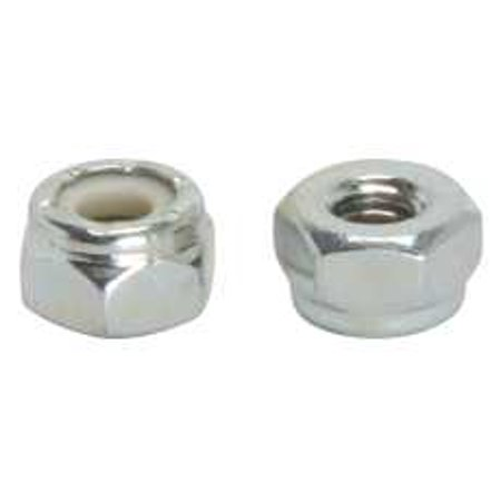 10-24 NYLON INSULATED LOCKNUT ZINC 1/4 IN. X 20 IN., 100 PER PACK
