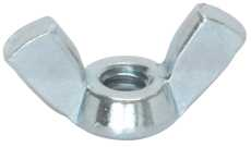 WING NUT ZINC 3/8 IN.-16, 100 PER PACK