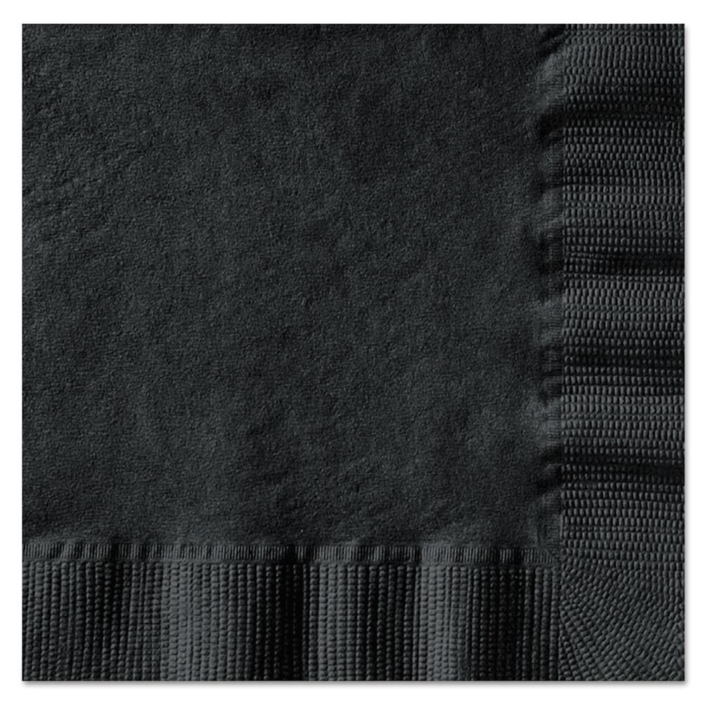 Beverage Napkins, 1-Ply, 10 x 10, Black, 1000/Carton