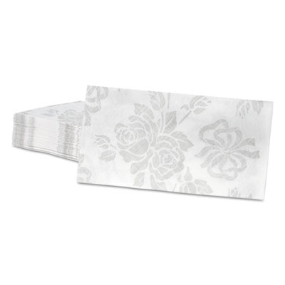 Linen-Like Guest Towels, 17 x 12, Silver, 125/Pack, 4 Packs/Carton