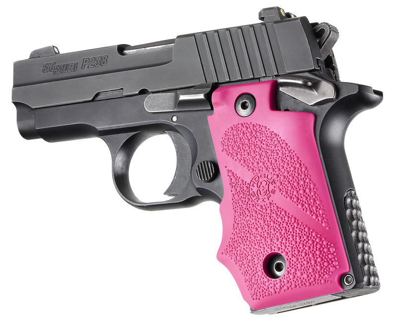 Hogue SIG Sauer P238 Rubber Grip with Finger Grooves Pink