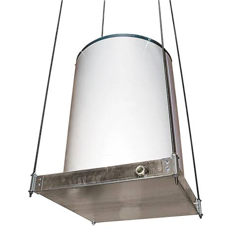 SUSPENDED WATER HEATER PLATFORM WITH PAN 21-1/2 IN. X 21-1/2 IN. DIA