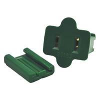 PLUG SLIDE FEMALE GREEN 25PK