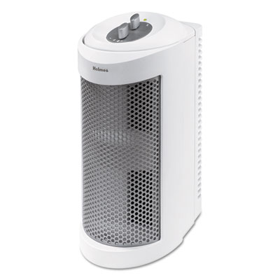 Allergen Remover Air Purifier Mini-Tower with True HEPA Filter, Three Speeds