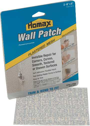 "PRE-PLASTERED WALL PATCH, 6"" X 6"", 2 PACK"