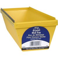 Homax 19 Lightweight Drywall Mud Pan, 12 in W X 4 in H, Polystyrene/Steel Edge, Yellow