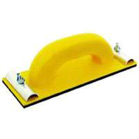 Homax 12 Heavy Duty Block Sander, 11 X 3-1/4 in, Plastic, Yellow