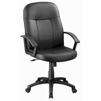 OFFICE CHAIR W/PP ARM BLACK