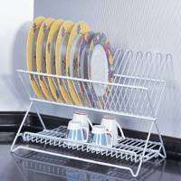 DISH RACK WHITE FOLDING