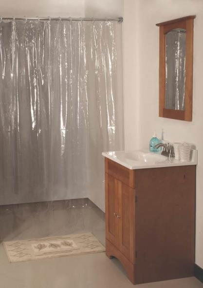 Homebasix SD-MCP01-C3L Heavy Duty Shower Curtain, 70 in W x 72 in L x 12 mm T, Vinyl, Clear