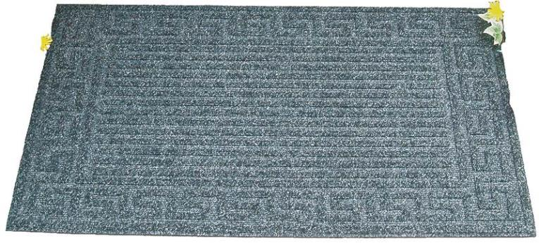 Homebasix 06ABSHE-02-3L Door Mat, 18 in W X 30 in L, Crumb Rubber