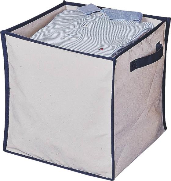 Homebasix M167CNW-3L Collapsible Storage Box, 14 in L x 14 in W x 14 in H, Canvas