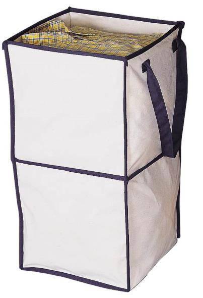 Homebasix CIAEC14-3L Collapsible Storage Box, 12 in L x 12 in W x 23 in H, Canvas