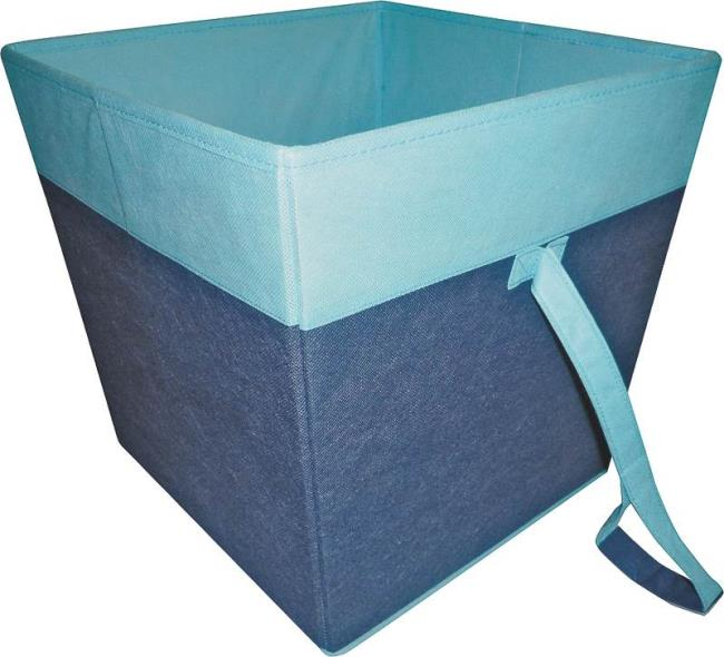 Homebasix 05000953B Storage Bin, 15 x 15 x 15 in, Blue