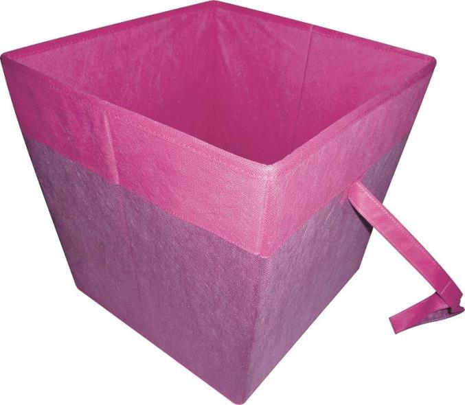 Homebasix 05000953P Storage Bin, 15 x 15 x 15 in, Purple