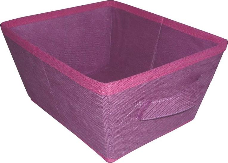 Homebasix 05000951P Storage Bin, 10-1/2 x 8-1/4 x 5-1/4 in, Purple