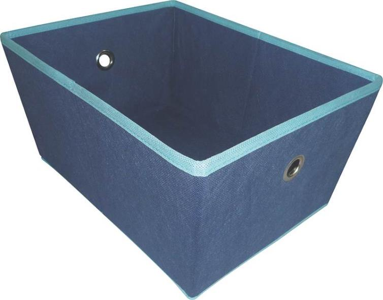 Homebasix 05000949B Storage Bin With Holes, 16 x 12 x 8 in, Blue