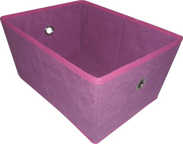 Homebasix 05000949P Storage Bin With Holes, 16 x 12 x 8 in, Purple