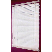 BLIND FAUX WOOD WHITE 23X64IN