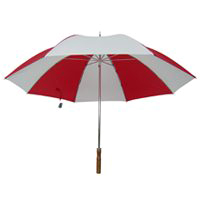 UMBRELLA GOLF 29IN RED/WHITE