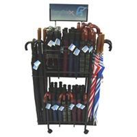 RAIN UMBRELLA DISPLAY STAND W/HD CD