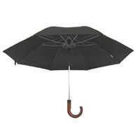 UMBRELLA RAIN 21IN BLK CRV HDL