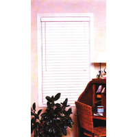BLIND FAUX WOOD WHITE 39X64IN