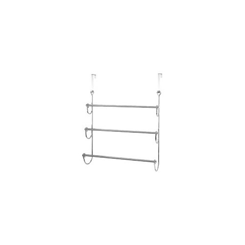 Homebasix BR61T-CH Door Hanger With Towel Bar, 27 in L x 23-1/2 in W x 4-1/8 in H, Chrome