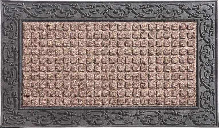 Homebasix 08ABSHE-30 Indoor/Outdoor Door Mat, 22 in W X 36 in L, Rubber