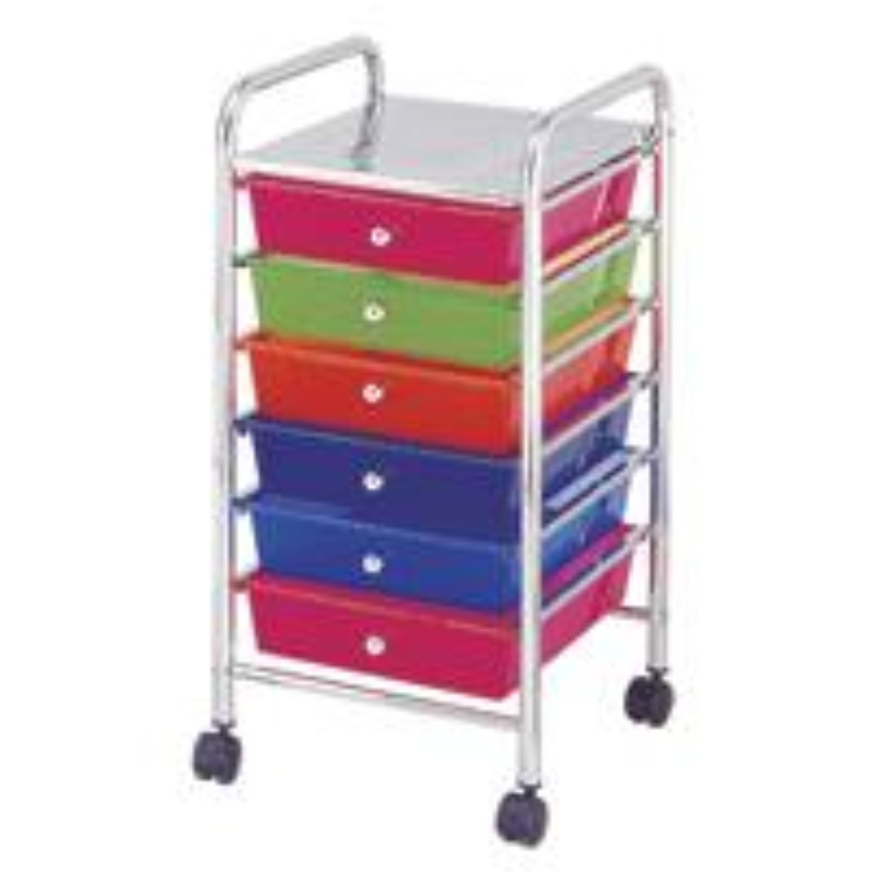 Homebasix G006-CH Storage Cart, Plastic, Mirror Polished Chrome Frame