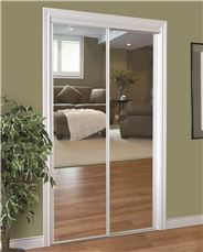 HOME DECOR INNOVATIONS 230 SERIES FRAMED MIRROR BYPASS DOOR, WHITE, 60X80 IN.