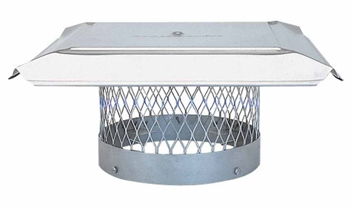 "8"" HomeSaver Pro Stainless Steel Round Chimney Cap, 3/4"" Mesh"