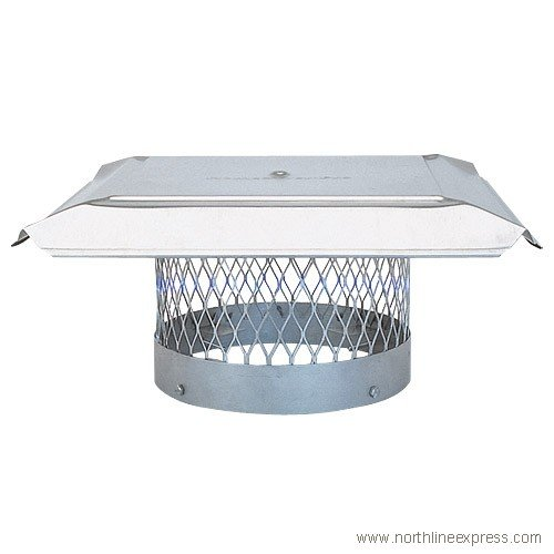 "12"" HomeSaver Pro Stainless Steel Round Chimney Cap, 3/4"" Mesh"