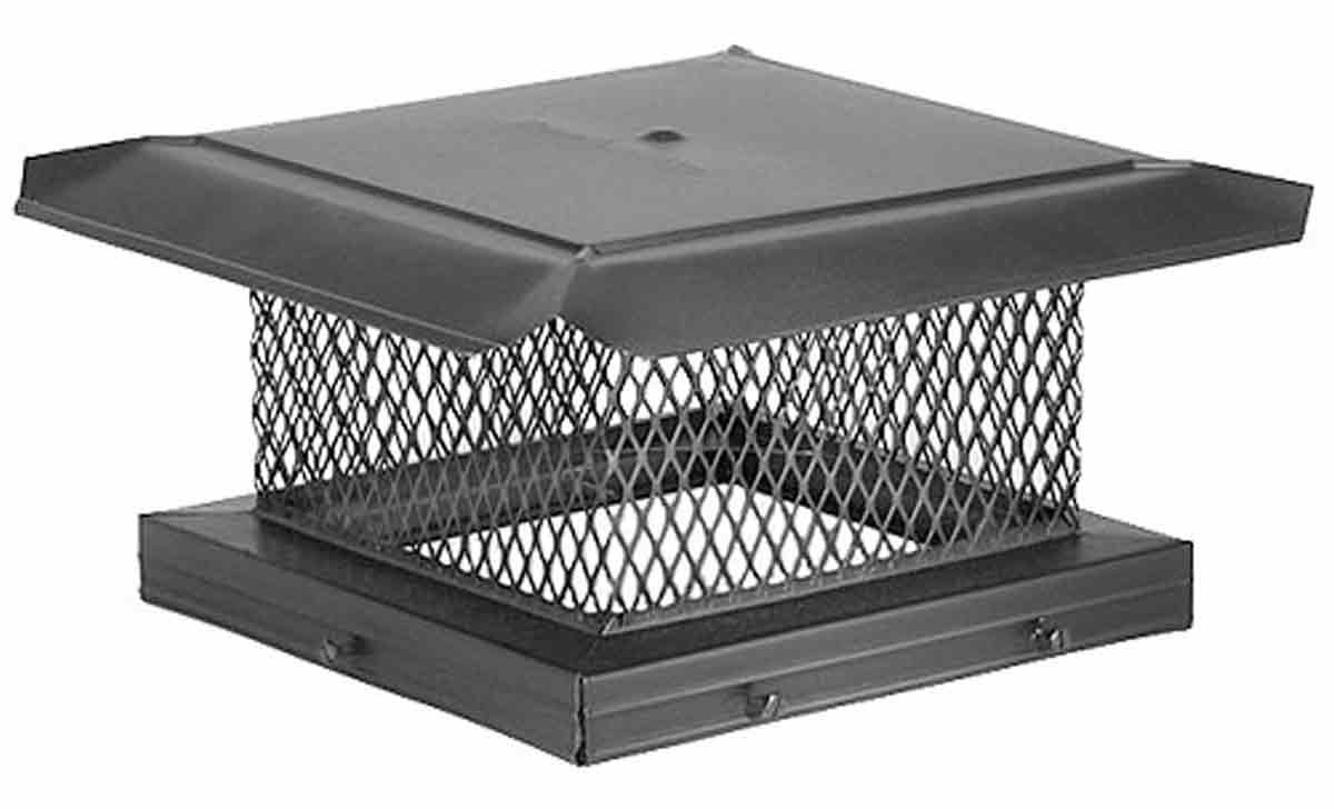 "12"" x 12"" HomeSaver Pro Black Cap, 3/4"", 18-ga, 8"" High Mesh, 24-ga Lid"