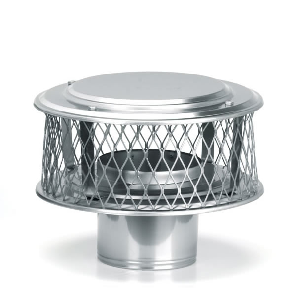 "8"" HomeSaver Stainless Steel Guardian Cap, 316 Alloy, 3/4 Mesh"