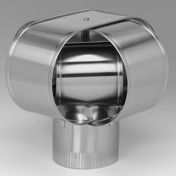 "4"" HomeSaver Windbeater Stainless Steel Cap, 24-ga."
