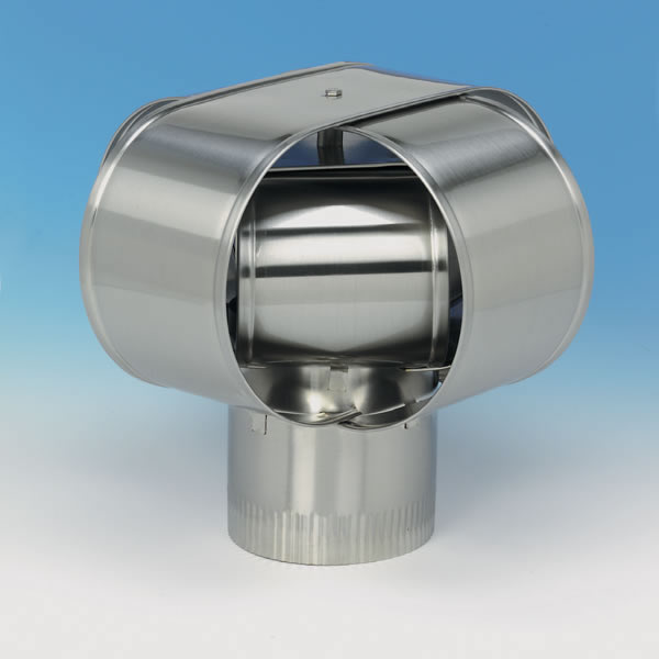 "6"" HomeSaver Windbeater Stainless Steel Cap, 24-ga."