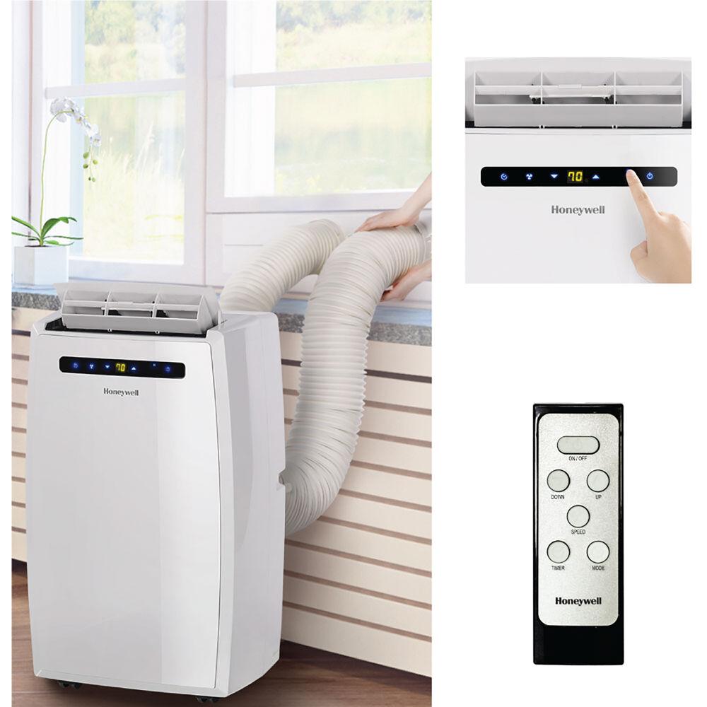 14,000 BTU Portable Air Conditioner, Dual Hose with Remote, White