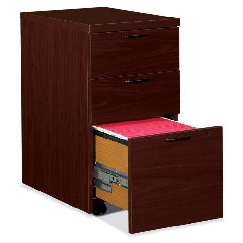 10500 Series Box/Box/File Mobile Pedestal, 15 3/4w x 22 3/4d x 28h, Mahogany
