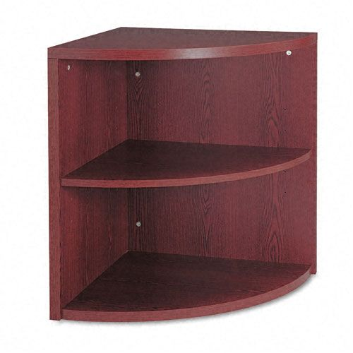 10500 Series Two-Shelf End Cap Bookshelf, 24w x 24d x 29-1/2h, Mahogany