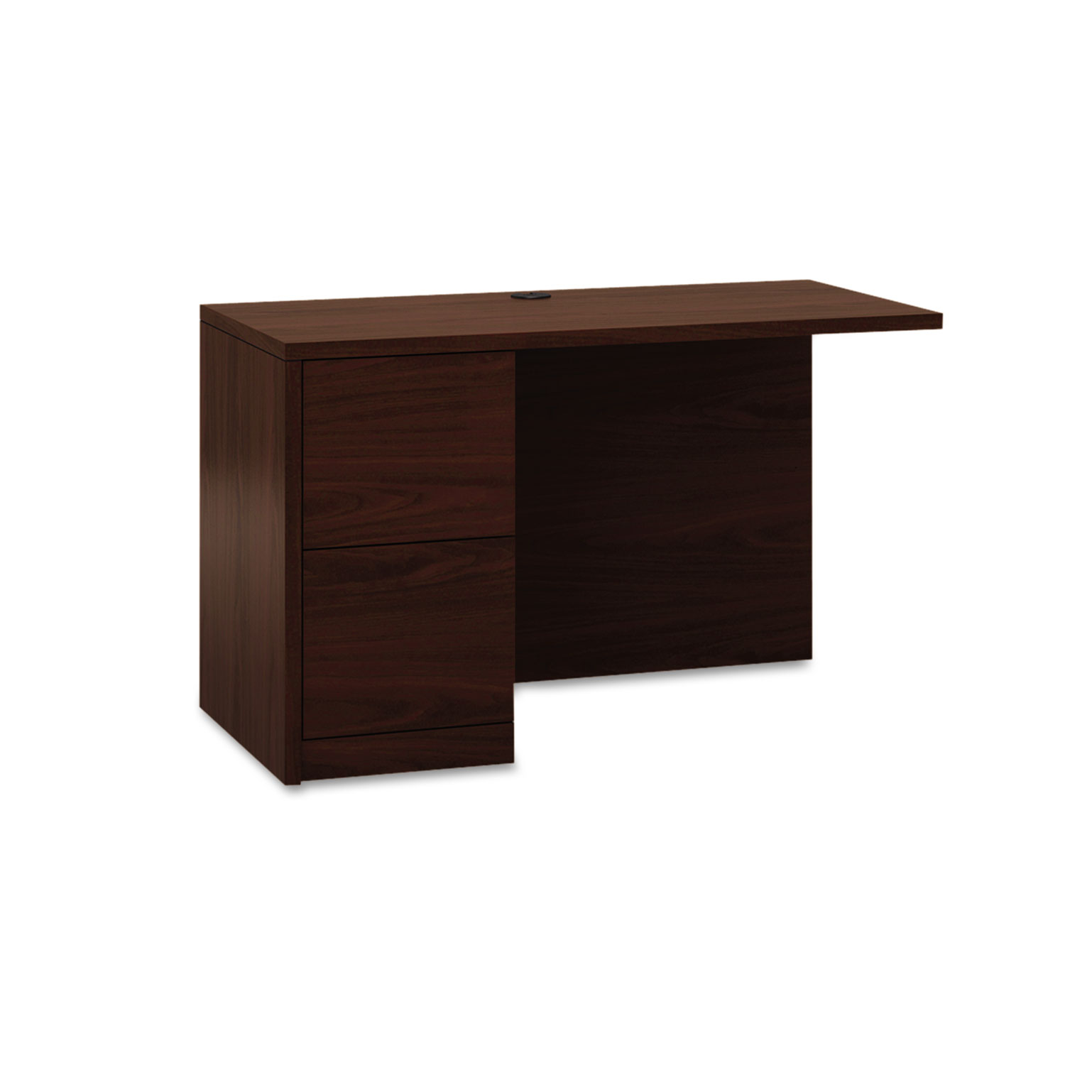 10500 Series L Workstation Return, Full-Height Left Ped, 48w x 24d, Mahogany