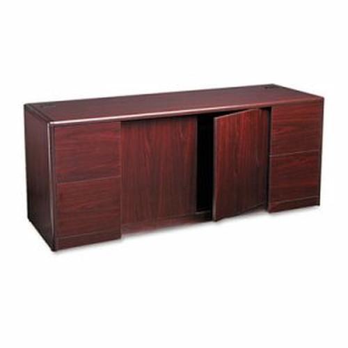 10700 Series Credenza w/Doors, 72w x 24d x 29 1/2h, Mahogany