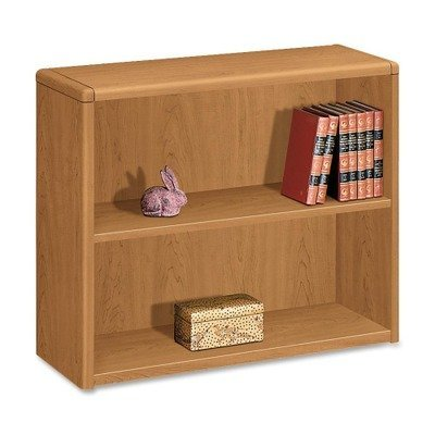 10700 Series Wood Bookcase, Two Shelf, 36w x 13 1/8d x 29 5/8h, Harvest