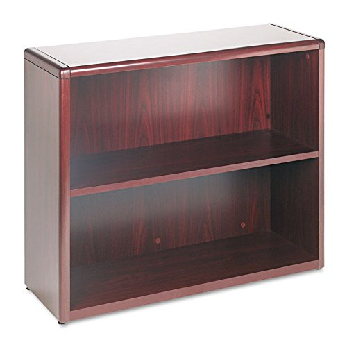 10700 Series Wood Bookcase, Two Shelf, 36w x 13 1/8d x 29 5/8h, Mahogany