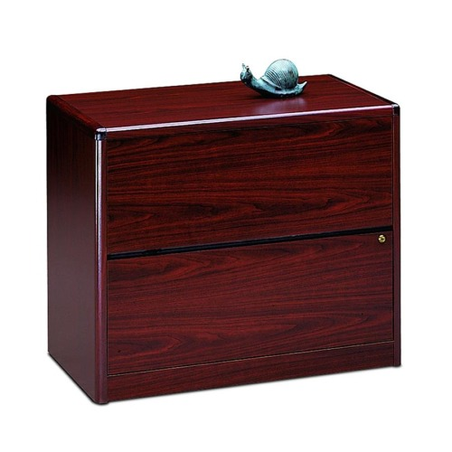 10700 Series Two Drawer Lateral File, 36w x 20d x 29 1/2h, Mahogany