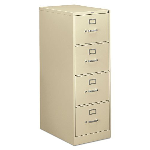 310 Series Four-Drawer, Full-Suspension File, Legal, 26-1/2d, Putty